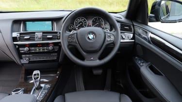 New BMW X4 2014 UK interior