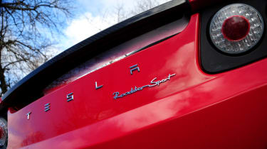 Tesla Roadster badge