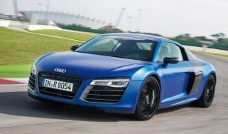 Audi R8 V10 Plus front action
