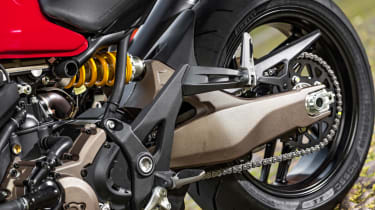 Ducati Monster 821 review - rear wheel