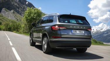 2021 facelifted Skoda Kodiaq SUV - rear driving