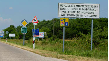 Foreign road signs