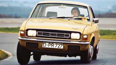Top 10 worst cars - Austin Allegro beige front cornering