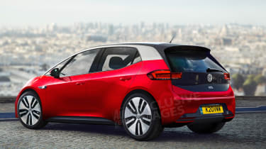 VW I.D. exclusive images rear