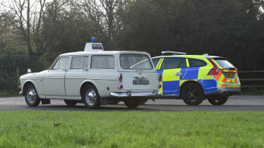 Volvo 121 Amazon and Volvo V60s police cars - rear side