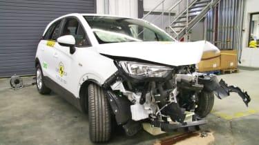 Vauxhall Crossland X - Frontal Offset Impact test - after crash