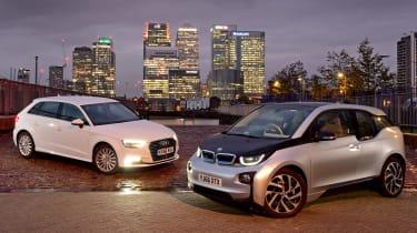 BMW i3 vs Audi A3 e-tron - header