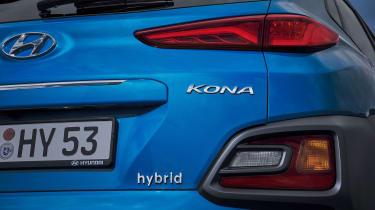 Hyundai Kona hybrid - rear detail