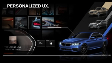 New BMW iDrive tech - personalisation