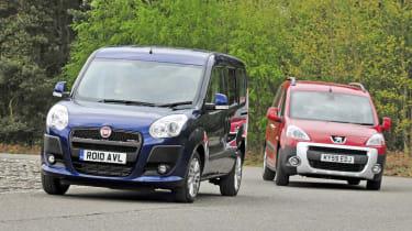 Peugeot Partner Tepee vs Fiat Doblo.