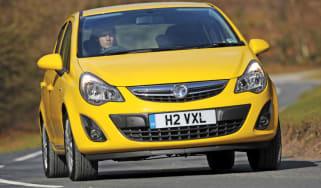 Vauxhall Corsa 1.2 front cornering
