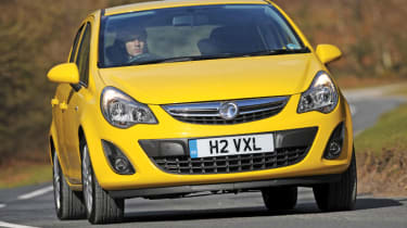 Vauxhall Corsa 1.2 front cornering