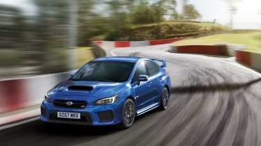 Subaru WRX STi Final Edition on track
