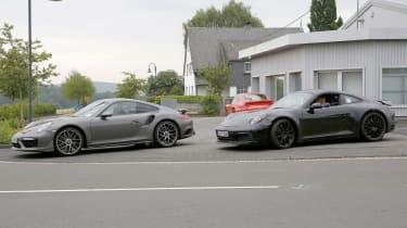 Current Porsche 911 and next-gen Porsche 911
