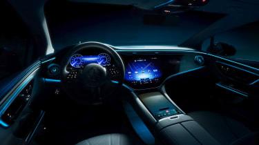 Mercedes EQE interior teaser
