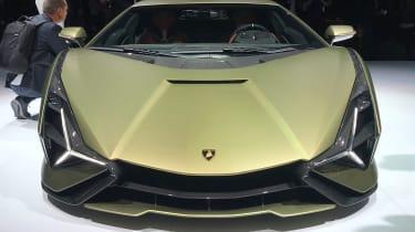 Lamborghini Sian - rear 3/4 static Frankfurt