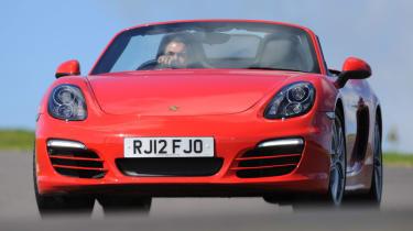 Porsche Boxster front cornering