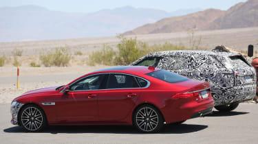 Jaguar XF mild hybrid spy shot xf