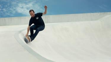 Lexus hoverboard - banked corner shot