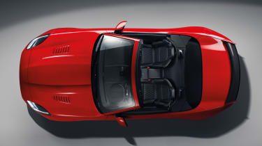 Jaguar F-Type MY2017 - SVR convertible overhead