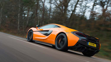 McLaren 570S first UK drive - rear tracking
