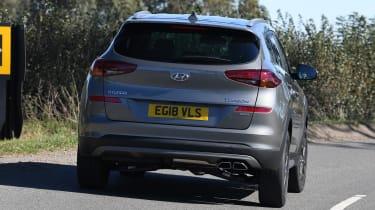 Hyundai Tucson 48v - rear cornering