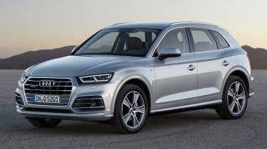 Audi Q5 SUV - front quarter silver