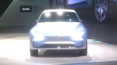 Hyundai FE Fuel Cell Concept show pics nose