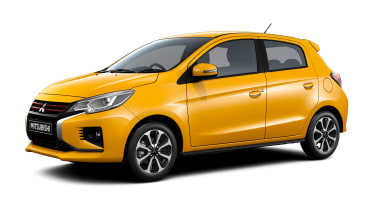 Mitsubishi Mirage - studio front/side