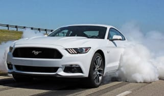 Ford Mustang line-lock burnout