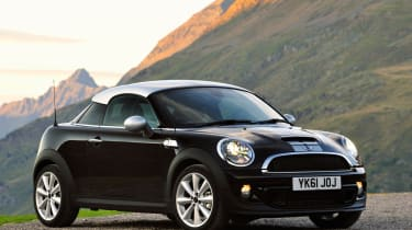 The Mini has good grip, but pays the price with a punishing ride and figety steering.