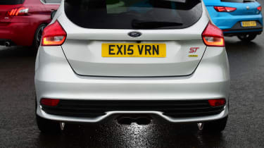 Peugeot 308 GTi vs Ford Focus ST Mountune vs SEAT Leon Cupra exhaust