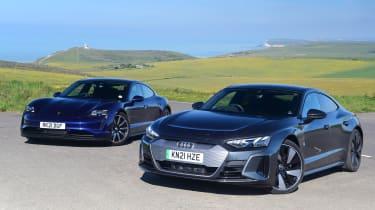 Audi e-tron GT vs Porsche Taycan 4S