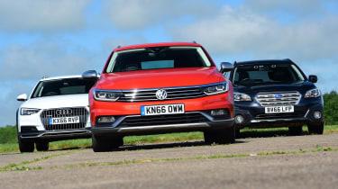 Off-road triple test - Volkswagen Passat Alltrack vs Audi A4 Allroad vs Subaru Outback