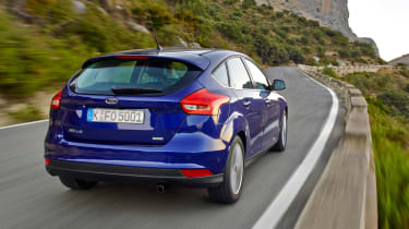 New Ford Focus 2014 rear blue