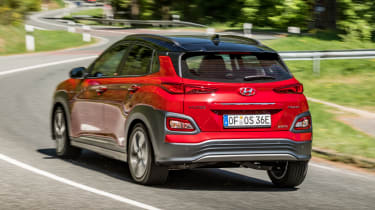 Hyundai Kona Electric - rear cornering