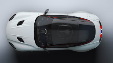 Aston Martin DBS Superleggera Concord - aerial static
