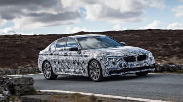 BMW 5 Series prototype 2016 - front tracking 2