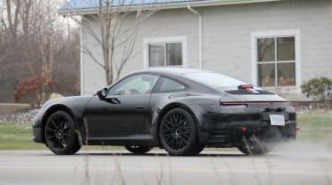 Porsche 911 spy rear quarter