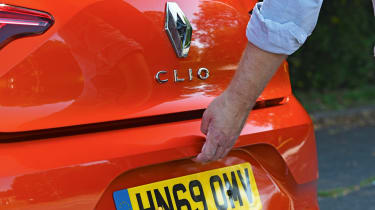 Renault Clio Long termer - boot