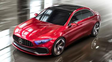 Mercedes Concept A Sedan - front action