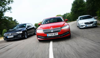 Skoda Superb vs Volkswagen Passat vs Vauxhall Insignia Grand Sport - header