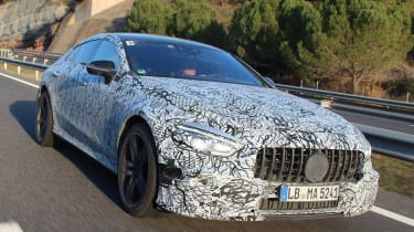 Mercedes amg gt four door official spy