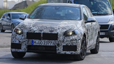 2019 BMW 1 Series spy shot front