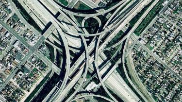 I-710 and I-105 Interchange, Los Angeles, California, US
