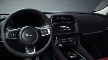 Jaguar F-Pace Chequered Flag -  interior