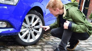 Skoda Fabia SE L: long-term test review - first report wheel