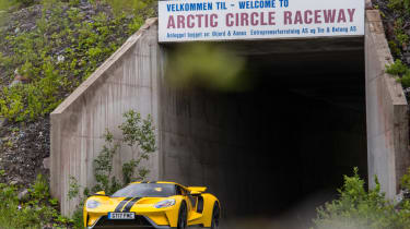 Ford GT Norway road trip - track