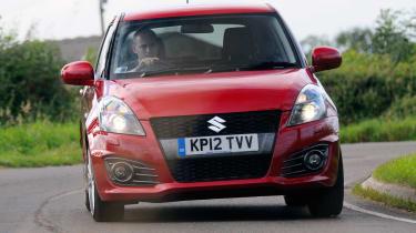 Suzuki Swift Sport front cornering