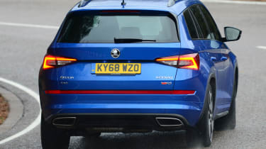 skoda kodiaq vrs driving rear